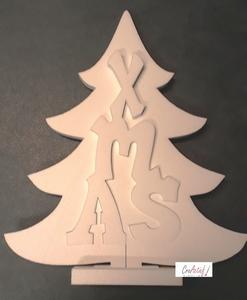 Styropor snijvorm Kerstboom XMAS groot 53cm/3-delig