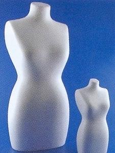 Styropor Torso volle vorm mannequin  art.1996.000  25 cm