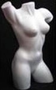 Styropor Torso groot Vrouw art. 83202B  70 cm