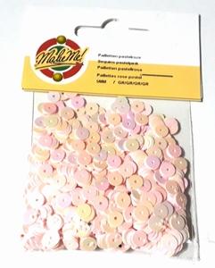 Pailletten glad 5 mm pastel roze 0016 Make Me OP=OP  7 gram