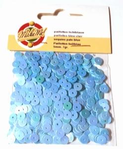 Pailletten glad 5 mm licht blauw 0039 Make Me OP=OP