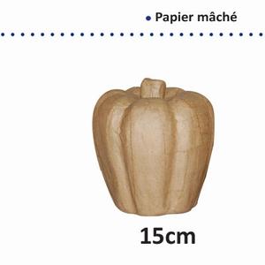 Papier Mache pompoen art. 16711-061  15 cm
