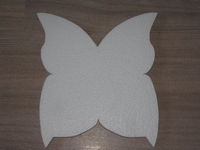 Snijvorm Vlinder middel, ca.25x26cm dikte 3cm  ca. 25cm