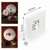 Powertex styropor bijproduct plaat met gat 32,5cmx32,5cmx5cm