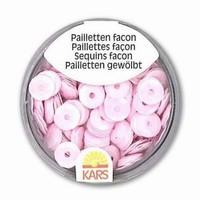 Pailletten 6 mm facon, opak baby roze 118369_0109 OP=OP  6 gram
