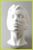 Styropor hoofd vrouw vlakke achterkant 21349-09  30 cm