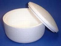 Styropor doosje Rond 15cm 9cm hoog art. 21397