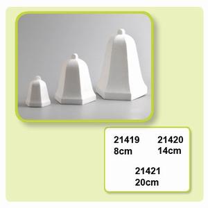 Styropor Kerstklok hoekig nr.21420  14 cm