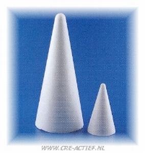 Styropor kegel 12cm stevige kwaliteit  12 cm