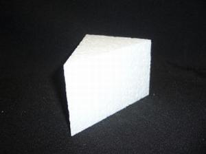 Taartpunt dummie breed 11x9cm dikte 7cm