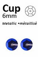 Pailletten 6mm facon, metal blauw-paars 317