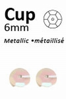 Pailletten 6mm facon, metal ecru-roze 401  5 gram