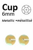 Pailletten 6mm facon, metal geel-pastel 412