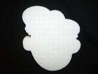 Styropor snijvorm Zwarte Piet groot 20cm (3cm dik)