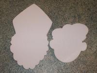 Styropor snijvorm Zwarte Piet klein 11cm (2cm dik)