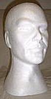 Styropor hoofd man korte hals