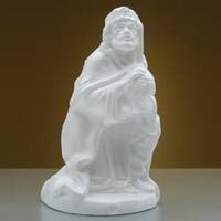Kerstfiguur Koning Baltazar knielend nr.8-3158B 24 cm
