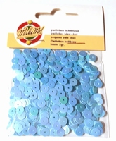 Pailletten glad 5 mm licht blauw 0039 Make Me OP=OP