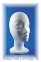 Styropor hoofd vrouw korte hals art. 21349-01