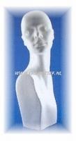Styropor buste Vrouwenhoofd