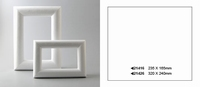Styropor lijst rechthoek 23,5 x 16,5 cm