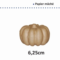 Papier Mache pompoen art. 16711-062 6,25cm