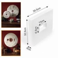 Powertex styropor bijproduct Plaat met gat 32,5cmx39cmx5cm