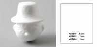 Hoofdje met hoed middel 12cm art. 21453 12 cm