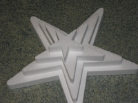 Ster snijvorm 3cm dik, 35cm