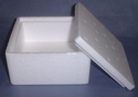 Styropor doosje Vierkant 13x13x7cm art. 21395