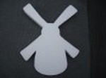 Styropor snijvorm Molen klein 28cm hoog (3cm dik)