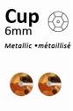 Pailletten 6mm facon, metal antiekgoud 304