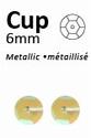 Pailletten 6mm facon, metal geel-pastel 412 5 gram