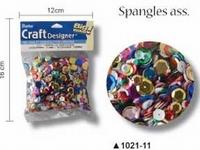 Pailletten facon assorti maten en kleuren art. 1021-11 110 tot 115gram