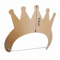 Papier mache Kroontje (stevig karton) 9,8cm hoog