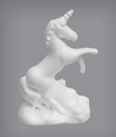 Eenhoorn (bov)HG364 crica 18cm 18x12x7cm